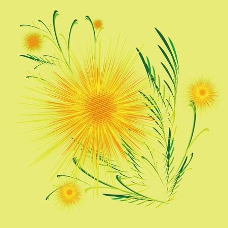 Flower in the shape of the sun with a pattern Stock Vector - 12028574