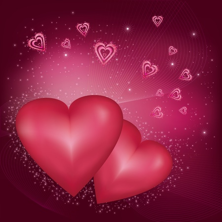 Beautiful  bright abstract Valentines card Stock Vector - 12067129