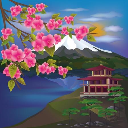 paesaggio mare: Bellissimo paesaggio giapponese