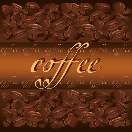 Coffee background chocolate- golden with text, vector illustration Vector