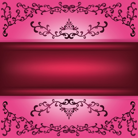 Background with decorative ornament and place for text Vector