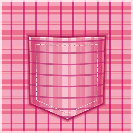contemporary design: Fabric pocket with geometric pattern