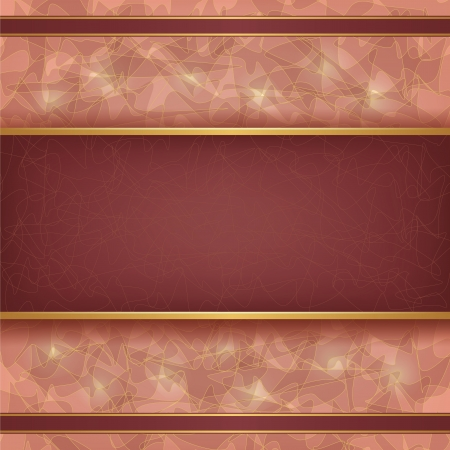 Abstract golden-chocolate background with pattern in vintage or grunge style, place for text.  Vector