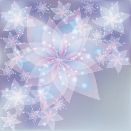 挨拶や招待状の花ユリの花シルバー レース背景カード ベクトル イラストのレトロなスタイル