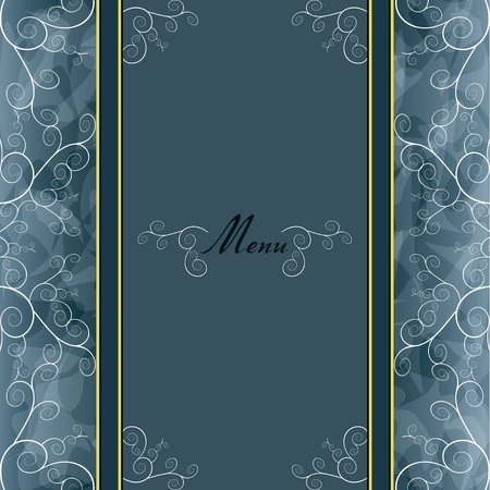 Vintage silver background for invitation or greeting card, menu, cover. illustration Vector