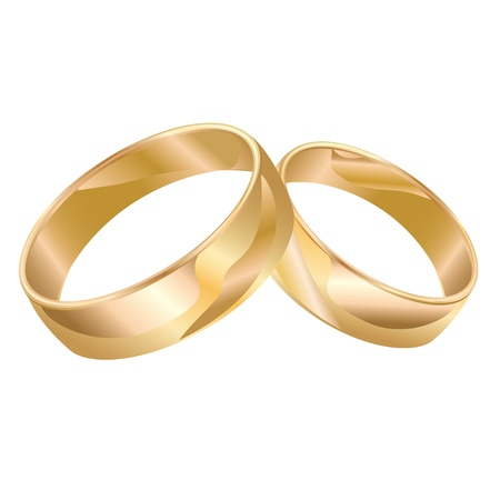ring wedding: Wedding rings isolated on white background. Illustration