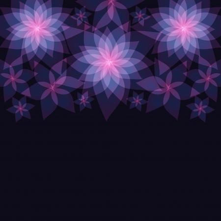 花ユリ挨拶または招待暗いの抽象的な花の背景をカード背景