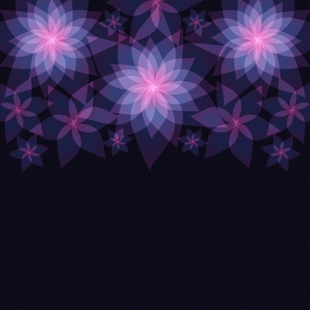 Fundo floral abstrato escuro com flores l