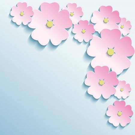 personas saludandose: Fondo abstracto creativo con estilo 3d flores Moderno vector fondo Ilustración vectorial