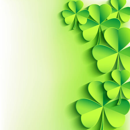 Abstract stylish St  Patrick Vector