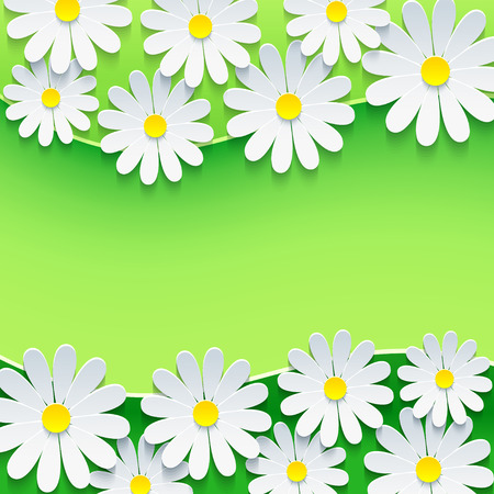 Stylish floral green background   Vector