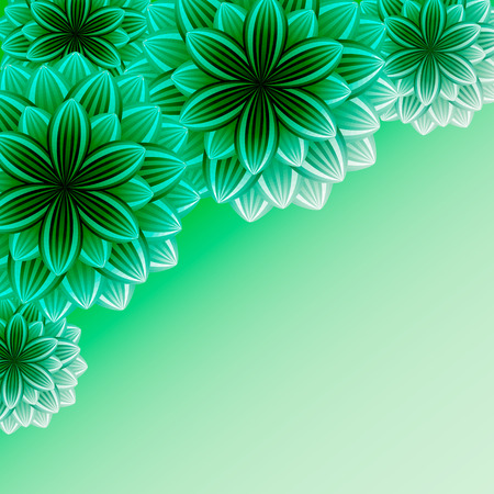 green wallpaper: Beautiful ornamental background with flowers  Stylish trendy green wallpaper  Greeting or invitation card for life events with place for text  Vector illustration