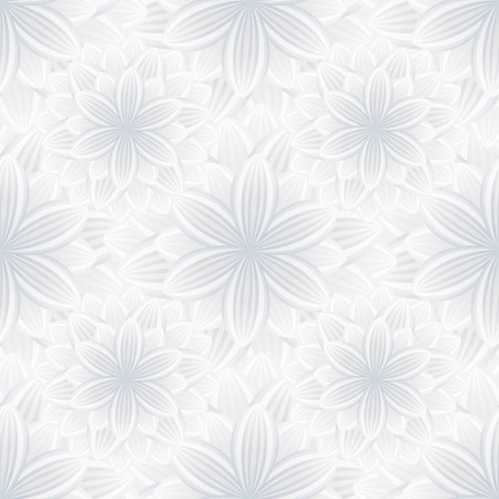 Beautiful Trendy Nature Background Seamless Pattern With Grey   White  Summer Flower Chrysanthemum. Floral Modern