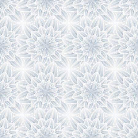Beautiful trendy nature background seamless pattern with grey  white summer flower chrysanthemum. Floral modern abstract wallpaper. Stylish light greeting or invitation card. Vector illustration Vector