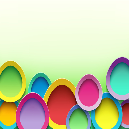vibrant background: Abstract trendy background with colorful 3d Easter egg. Festive vibrant card with Easter egg. stylish modern Easter background with place for text. illustration