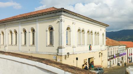 March 25, 2016, Historic city of Ouro Preto, Minas Gerais, Brazil colonial mansions.