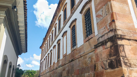March 25, 2016, historic city of Ouro Preto, Minas Gerais, Brazil, side view of the former prison of the colonial period.