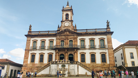 March 25, 2016, Historic city of Ouro Preto, Minas Gerais, Brazil. Former Legislative house of the colonial period, now Museum of the Inconfidence.