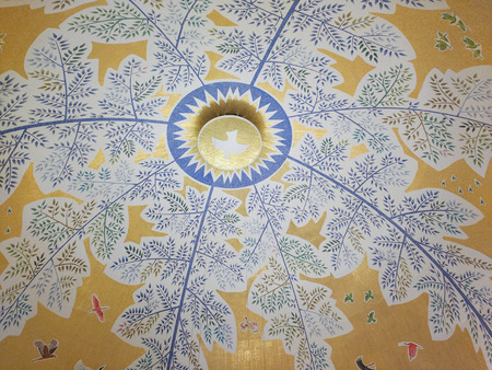 March 22, 2018, Aparecida, Sao Paulo, Brazil, Central Summit of the National Shrine of Our Lady Aparecida. Dome with mosaic tree of life.
