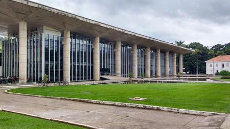 February 22, 2016, Viçosa, Minas Gerais, Brazil, Federal University of Viçosa, facade of the Center for Living, in modern architecture. Editorial