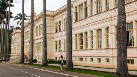 February 22, 2016, Vi osa, MG, Brazil, Federal University of Vi ososa, administrative headquarters in the Arthur Bernardes building. Side view.
