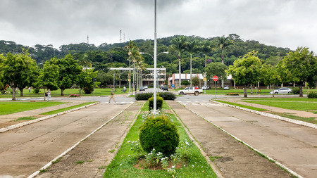 February 22, 2016, Vi osa, Minas Gerais, Brazil, Federal University of Vi?osa, intersection of avenues on campus. Quiet streets on a sunny day.