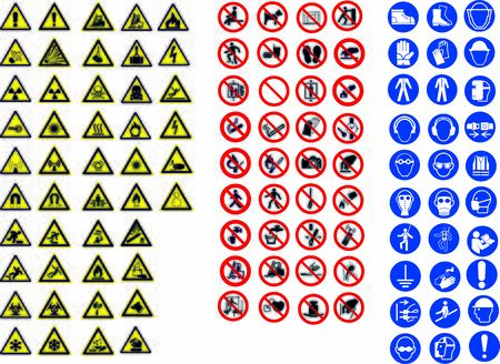 ISO 7010 SIGN WARNING SET SYMBOL SAFETY