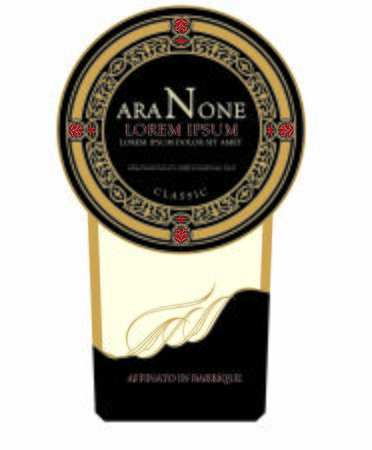 Wine italy label black graphic illustration Amarone and Prosecco