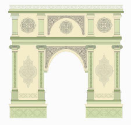 ancient hand baroque arch antique