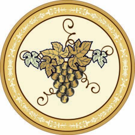 ROUND DECORATIVE GRAPE WINE GOLD COLOR