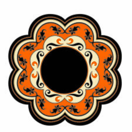 ANCIENT ROUND SYMBOL OF BAROQUE AND ARAB STYLE 向量圖像