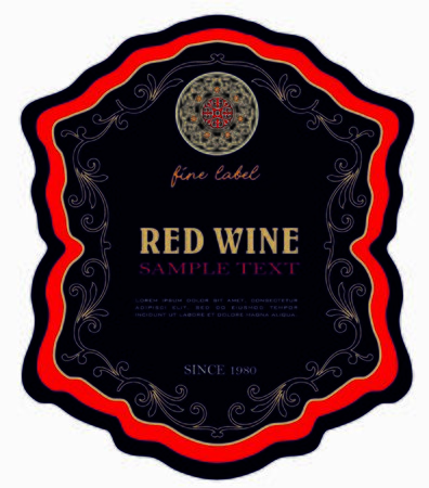WINE LABEL ITALIAN FOOD AND DRINKS DECORATIVE STICKER FOR AMARONE, PROSECCO, CHIANTI, VALPOLICELLA, PRIMITIVE AND SPARKLING WINE