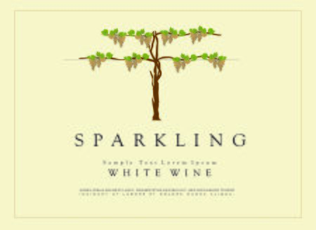WINE LABEL ITALIAN FOOD AND DRINKS DECORATIVE STICKER FOR AMARONE, PROSECCO, CHIANTI, VALPOLICELLA, PRIMITIVE AND SPARKLING WINE