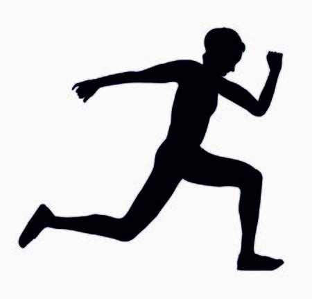 RUNNING MARATHON ATHLETE SYMBOL LOGO Иллюстрация