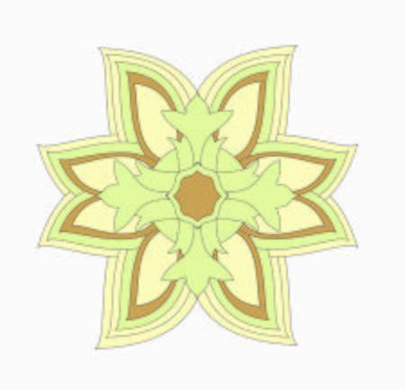 star illustration gold decorative ornament pattern