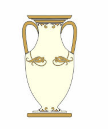 ANCIENT ROMAN AND ETRUSCAN VASE DECORATED FLORAL
