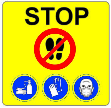 DANGER AND WARNING SYMBOLS STOP AND ALT PROHIBITION