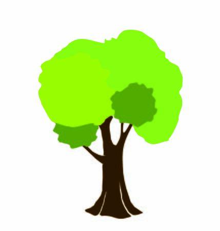 natural organic green tree with rich foliage