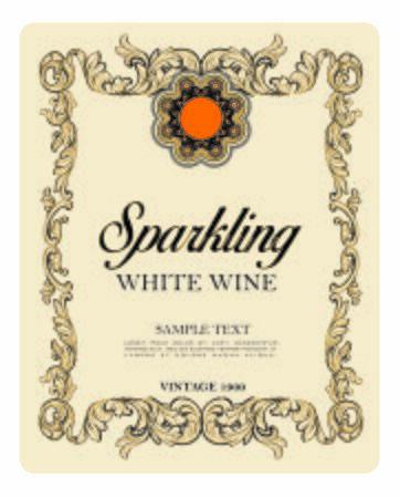WINE LABEL ITALIAN DRINKS, DECORATIVE STICKER FOR SPARKLING WINE PROSECCO
