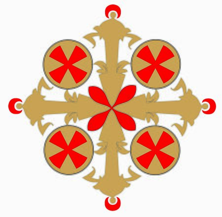 SYMBOLS OF THE CATHOLIC CHURCH, WITH CROSSES DECORATED FOR SACRED DRESSES