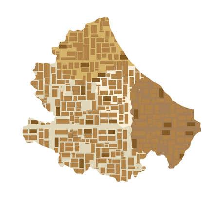 geographic representation map of the Italian region
