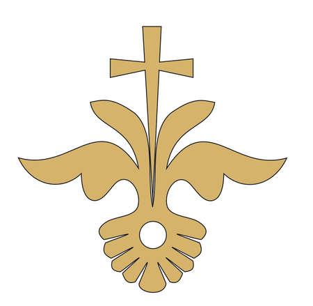 RELIGIOUS CATHOLIC SYMBOL JESUS CROSS