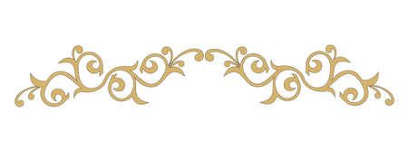 GOLD ORNAMENTAL DECORATION WITH BAROQUE STYLE LEAVES Иллюстрация