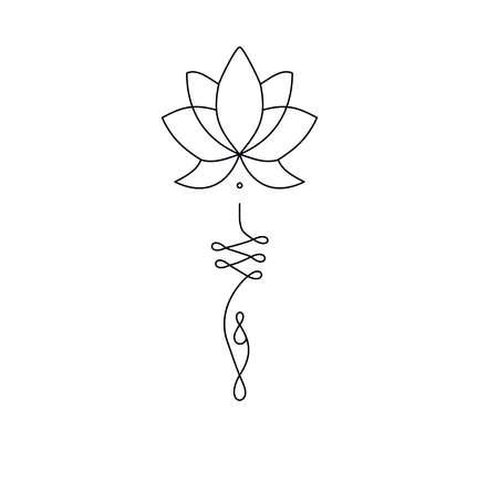 Tatoo design stencil logo art graphic lotus flower