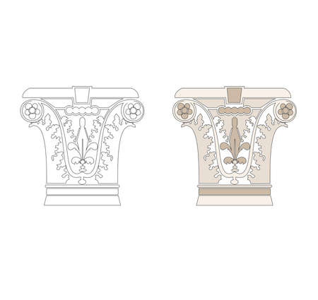 ANCIENT ROMAN AND HISTORICAL CLASSIC DECORATIONS GOTHIC COLUMNS AND FRIEZES IN ANCIENT VENETIAN STYLE