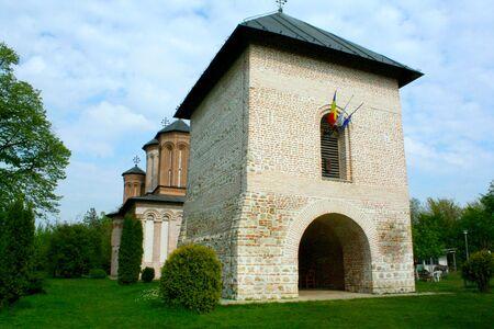 THe entrance to Snagov Monastery of Vlad Tepes - Dracula Stock Photo