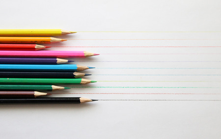 Colored pencils, office, art, background, child, childhood, drawing, paint, artist, artistic Фото со стока