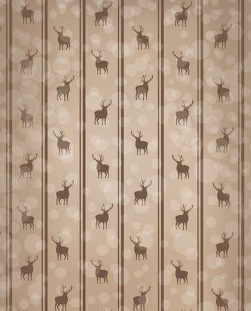 Abstract Christmas background, wallpaper with deer