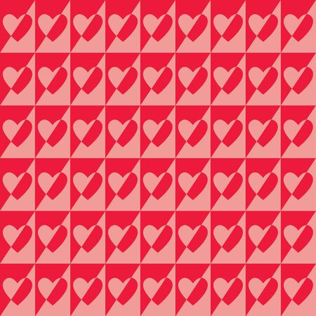 Pattern with hearts, Valentines day. Vector background. Hearts seamless pattern.