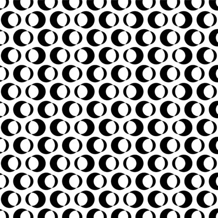 Vector seamless pattern. Modern stylish texture. Repeating geometric tiles with circle.